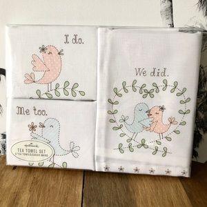Hallmark Kitchen Towel Set 2nd Anniversary Gift